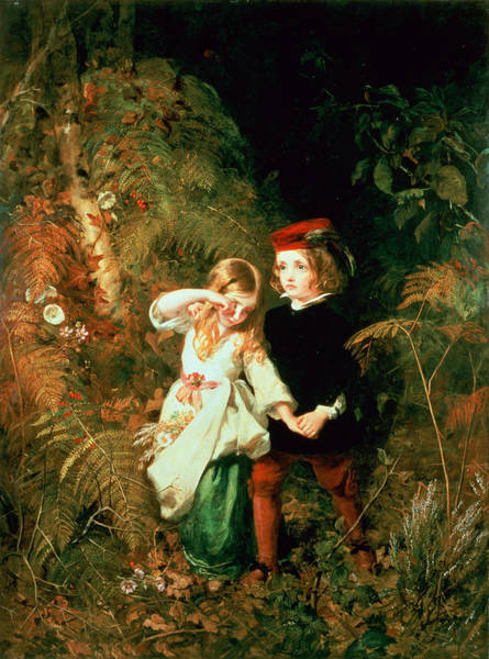 Babe Photograph - Children In The Wood by James Sant