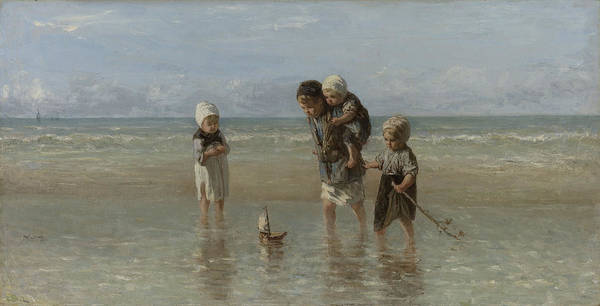 Wall Art - Drawing - Children Of The Sea, Jozef Israëls by Quint Lox