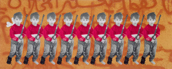 Toy Gun Photograph - Children Of War, Children Of Peace, 1996 Silkscreen On Canvas See Also 279271 by Laila Shawa