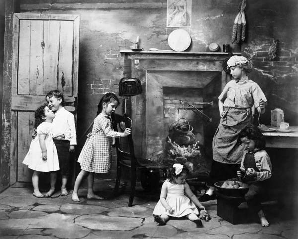Photograph - Children Playing, 1902 by Granger