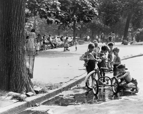 Wall Art - Photograph - Children Playing In Park by Fred Palumbo