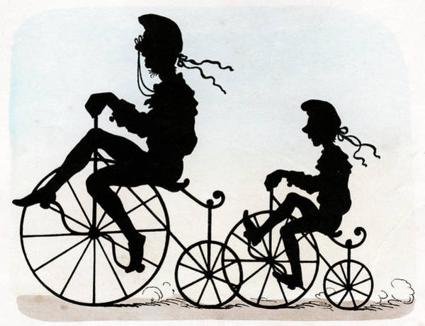 Wall Art - Photograph - Children Riding Velocipedes by Cci Archives
