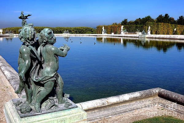 Photograph - Children Statue At Versailles by Olivier Le Queinec