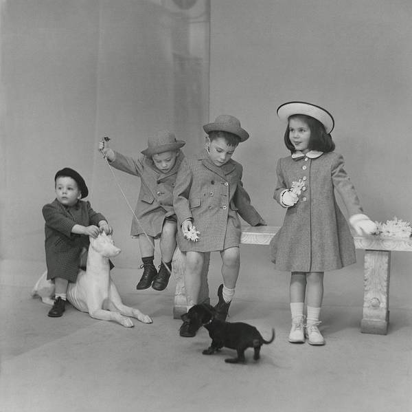 6 Photograph - Children Wearing Coats And Hats by Frances McLaughlin-Gill