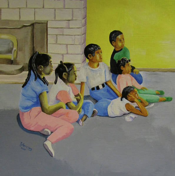 Painting - Children's Attention Span  by Thomas J Herring
