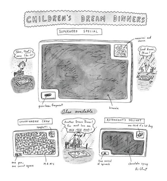 Superhero Drawing - Children's Dream Dinners Superhero Special Title: by Roz Chast
