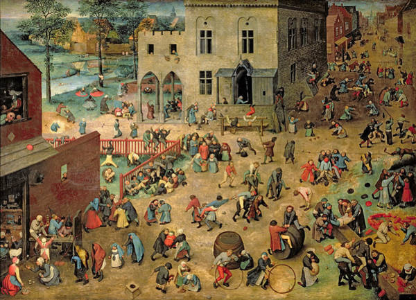Wall Art - Photograph - Childrens Games Kinderspiele, 1560 Oil On Panel by Pieter the Elder Bruegel
