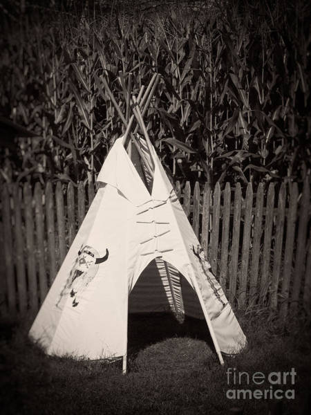 Photograph - Childs Vintage Play Tipi by Edward Fielding