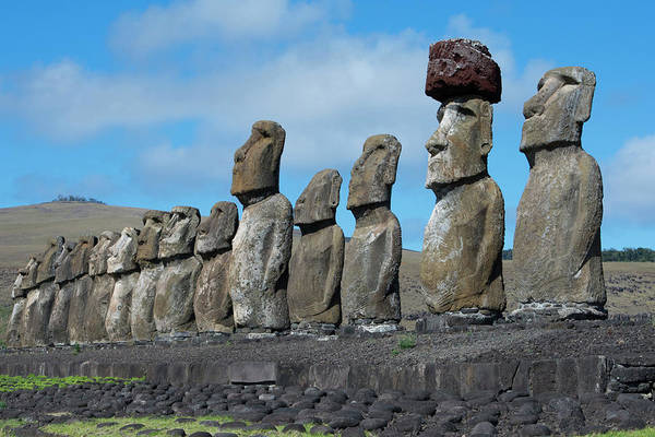 Stone Carving Wall Art - Photograph - Chile, Easter Island, Hanga Nui by Cindy Miller Hopkins