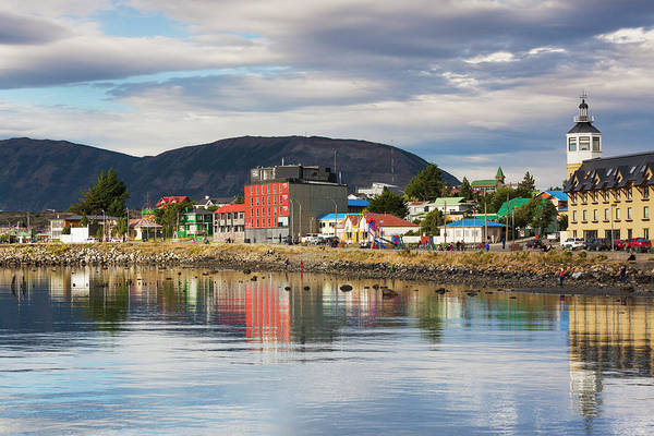 Antartica Wall Art - Photograph - Chile, Puerto Natales, Waterfront by Walter Bibikow