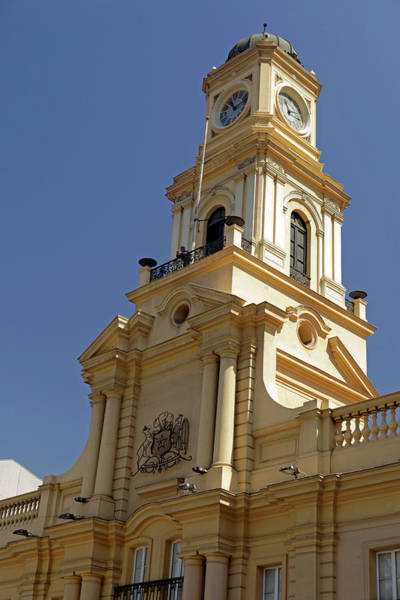 The Clock Tower Photograph - Chile, Santiago Royal Court Palace by Kymri Wilt