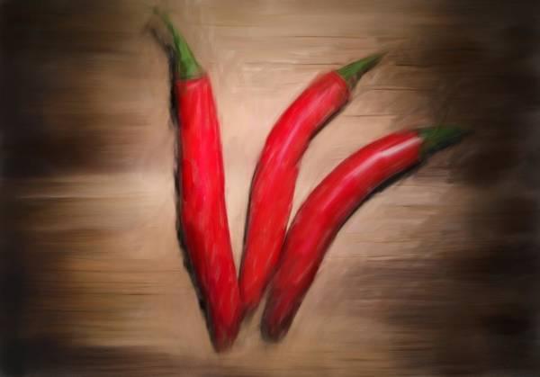 Ingredient Digital Art - Chili Pepper by Michael Kuelbel