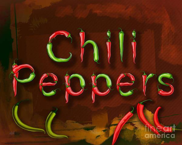 Ingredients Digital Art - Chili Peppers by Peter Awax