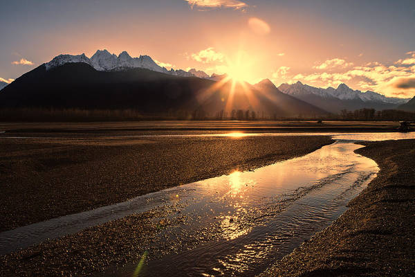 Haines Falls Photograph - Chilkat River Sunset by Michele Cornelius