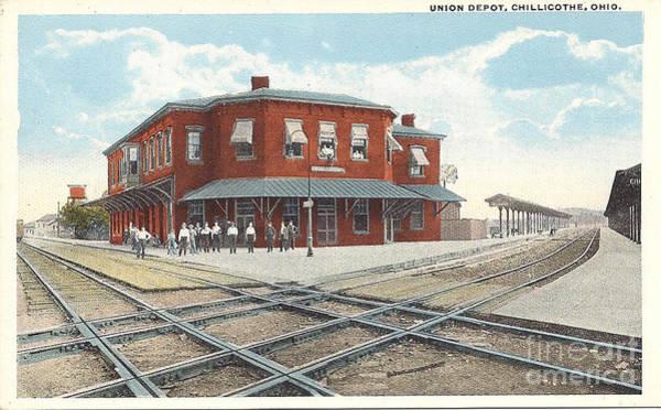 Chillicothe Ohio Railroad Depot Postcard Art Print