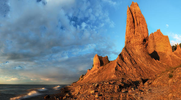 High Water Mark Photograph - Chimney Bluffs 2 by Mark Papke