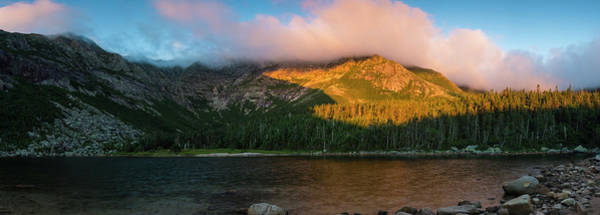 Appalachian Mountains Photograph - Chimney Pond And Mount Katahdin by Jerry Monkman
