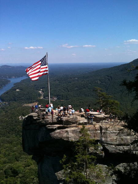Mohican Photograph - Chimney Rock 3 by Reid Callaway