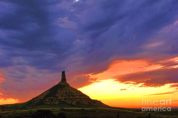 Nebraska Photograph - Chimney Rock Nebraska by Olivier Le Queinec