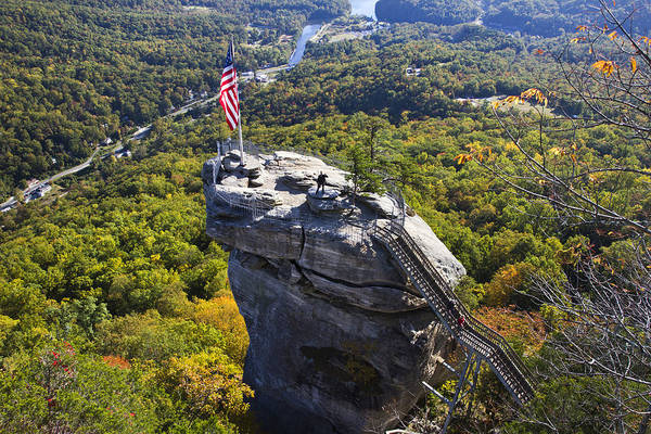 Mohican Photograph - Chimney Rock North Carolina by Pierre Leclerc Photography