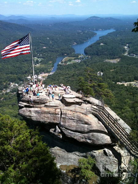 Mohican Photograph - Chimney Rock The Last Of The Mohicans Art by Reid Callaway