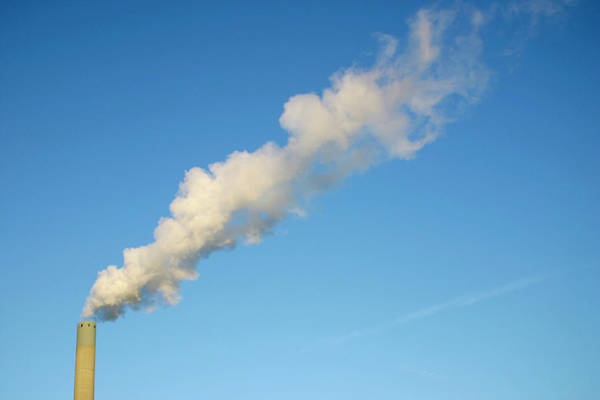 Energy Crisis Photograph - Chimney Smoke by Chris Martin-bahr/science Photo Library