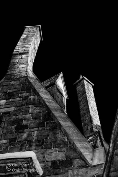 Photograph - Chimneys - Bw by Christopher Holmes
