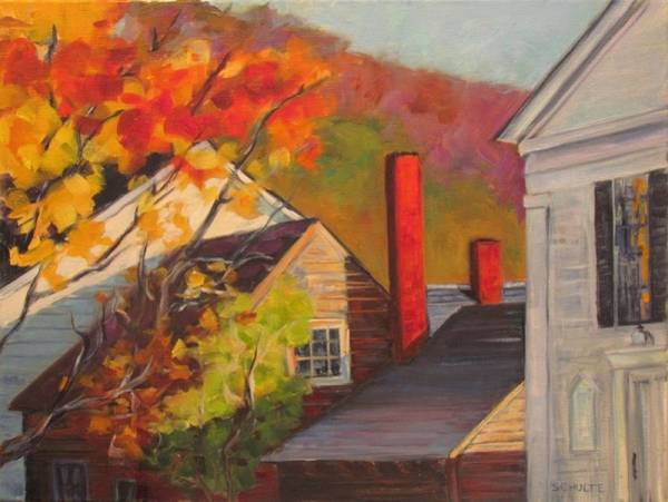 Coolidge Painting - Chimneys by Lynne Schulte