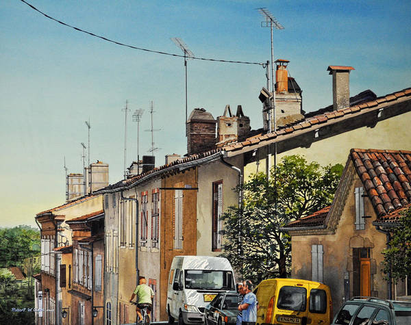 Southern France Painting - Chimneys Of Auch by Robert W Cook