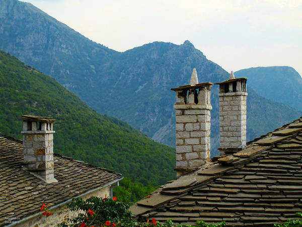 Chimnies Photograph - Chimnies And Roofs by Alexandros Daskalakis