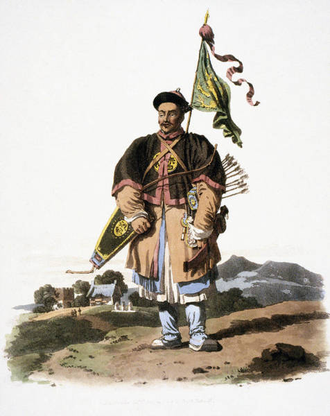 Wall Art - Drawing - China A Soldier In His Common Dress by Granger