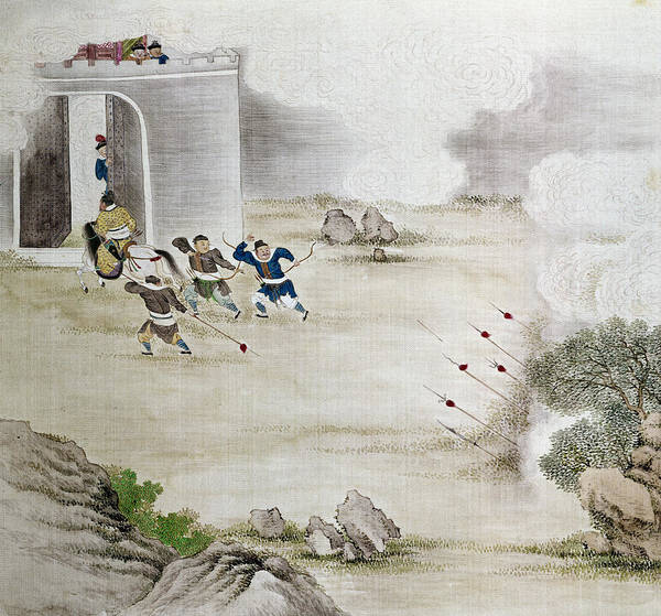 Painting - China Archers, C1820 by Granger