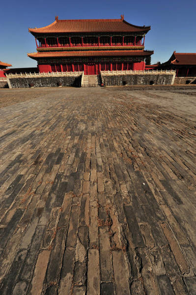 Forbidden City Photograph - China, Beijing, Forbidden City by Anthony Asael