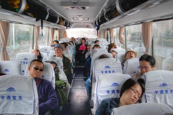 China Bus Ride  Art Print