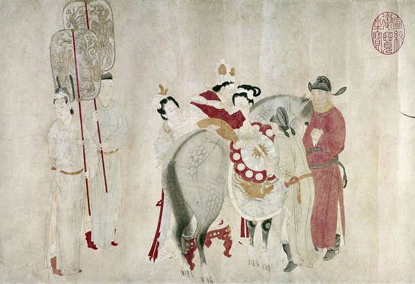 Painting - China Concubine & Horse by Granger