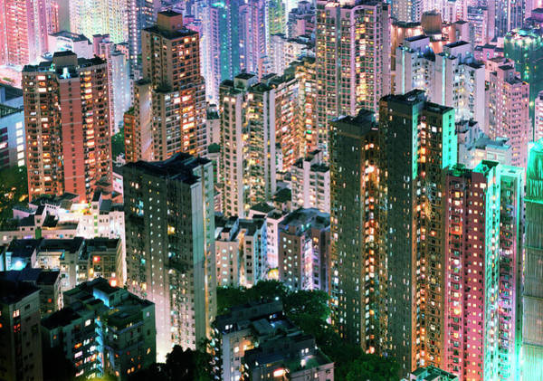 Photograph - China, Hong Kong, Apartment Blocks At by Martin Puddy