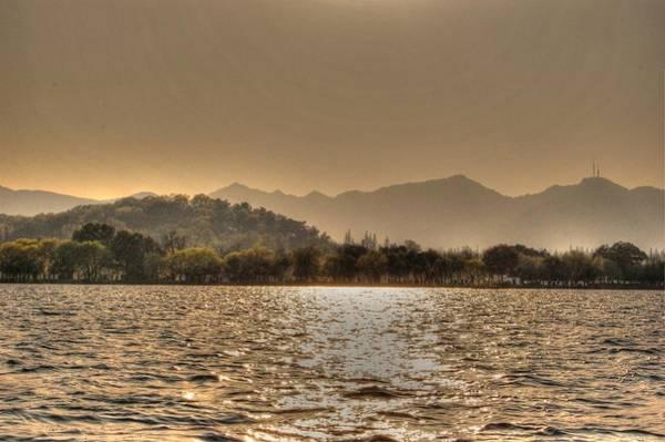 China Lake Sunset Art Print