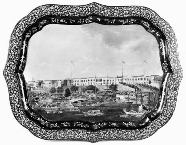 Photograph - China Painted Tray, C1825 by Granger