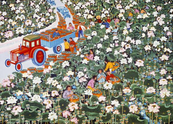 Wall Art - Painting - China Peasant Art, C1970 by Granger