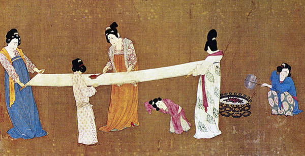 Wall Art - Painting - China Silk Manufacture by Granger