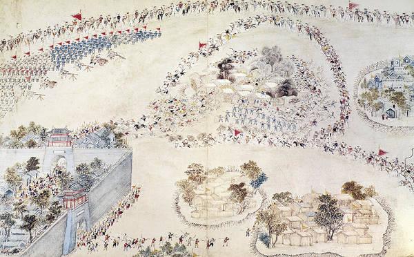 China Town Painting - China Taiping Rebellion by Granger