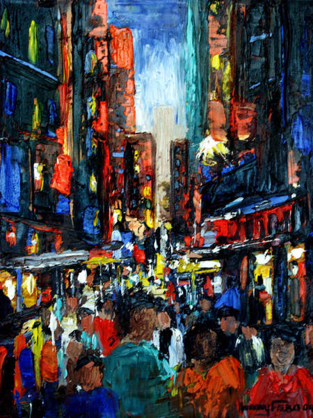 Painting - China Town by Anthony Falbo
