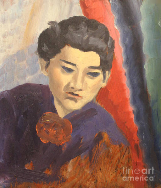 Painting - China Woman 1938 by Art By Tolpo Collection