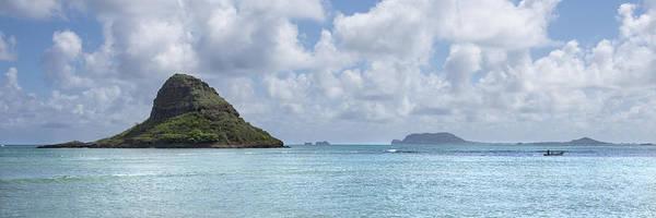 Mokolii Photograph - Chinamans Hat Panorama - Oahu Hawaii by Brian Harig