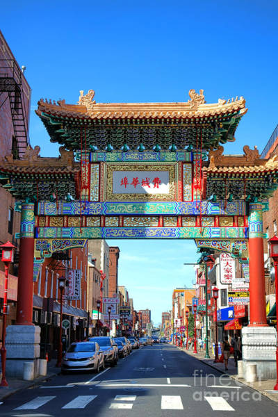 Neighborhood Photograph - Chinatown Friendship Gate by Olivier Le Queinec