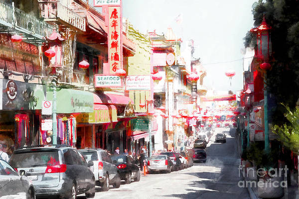 Photograph - Chinatown Gate On Grant Avenue In San Francisco 7d7175wcstyle by Wingsdomain Art and Photography