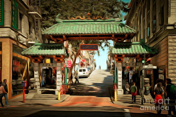 Photograph - Chinatown Gate On Grant Avenue In San Francisco 7d7193brun by Wingsdomain Art and Photography