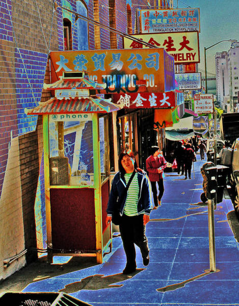 Digital Art - Chinatown Street Shadows by Joseph Coulombe