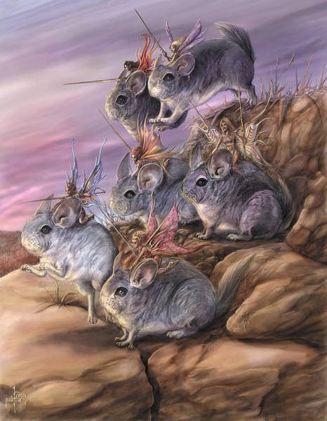Wall Art - Painting - Chinchilla Cavalry by MGL Meiklejohn Graphics Licensing