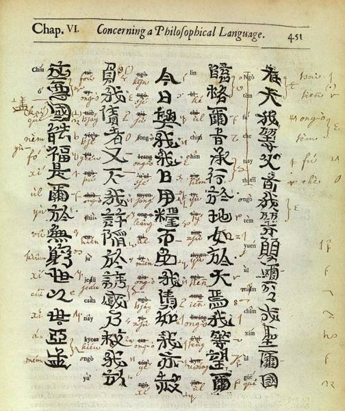 1600s Wall Art - Photograph - Chinese Characters by Middle Temple Library